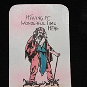 Old Linen Rip Van Winkle Postcard from the Catskill Mountains