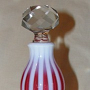 Fenton New World Cranberry Rib Optic Glass Wine Decanter