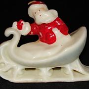 Vintage Santa in Sleigh Tavern Candle Unused - Rare