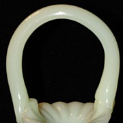 Fenton Custard Glass Miniature Basket