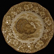 Wedgwood Brown Turkey Dinner Plate - Chip on Back