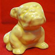 Vintage Morton Pottery Yellow English Bulldog Planter