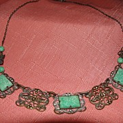 Jade-Like Green Stone Necklace - Free Shipping