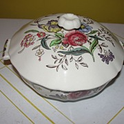 "Spode ""Gainsborough (Marlborough) Small Round Covered Bowl"