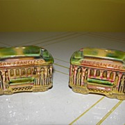 San Francisco Cable Cars Salt and Pepper Shakers - b28