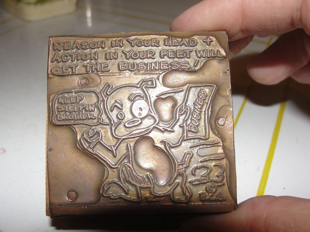 Copper Printing Block #7 Buster Gets the Business - Free shipping