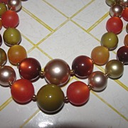 Shimmering Bead Double Strand Necklace - Free Shipping