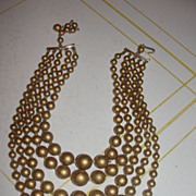 Gold Digger 5-strand Necklace - Free Shipping