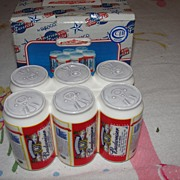 Enesco 6-pack of Cans Salt and Pepper Shakers - b29
