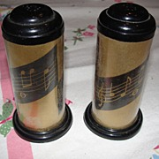 Musical cylinder Salt and Pepper Shakers - b28