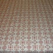 Homespun Earth-tone Pique Tablecloth - b22