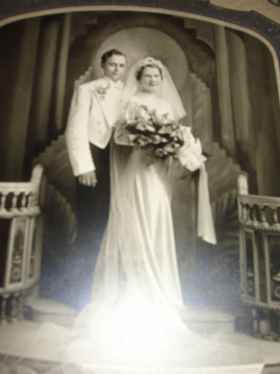 Sweetheart Bride and Dapper Groom Wedding Photo