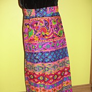 Psychedelic Hot Pink Print Maxi Skirt