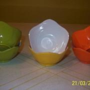 Shin-San Melamine Tulip Custard Cups - b22
