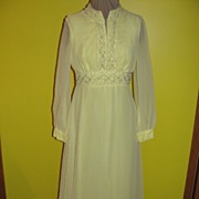 Fred and Ginger Yellow Chiffon Floor length Gown