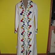 White Wedding Flower Power Long Tunic Pant Suit