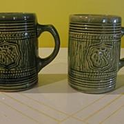 McCoy Green Glazed Grape Design Mugs/Tankards - b26