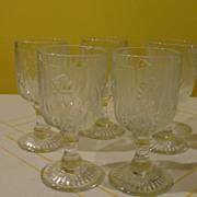 Iris and Herringbone Wine Glasses - b23 - b26