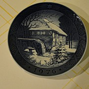 Royal Copenhagen 1976 Watermill Plate - b27