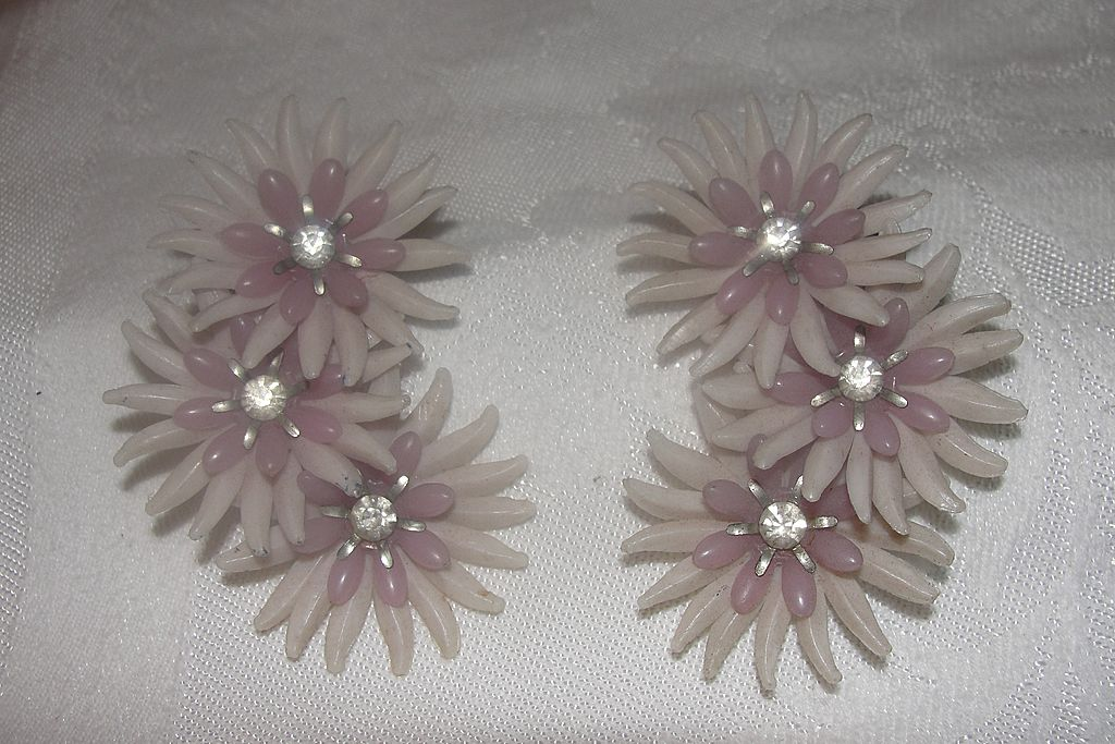 The Power of Pink Flower Clip-on Earrings - Free Shipping