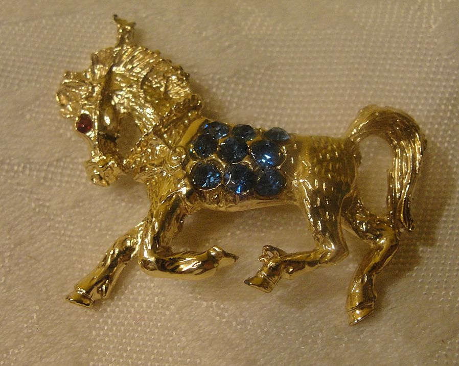 Like a Rhinestone Pony scatter Pin - Free shipping