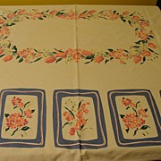 Bunches of Pink Tulips Tablecloth