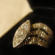 SALE Illusion Set Diamond in 14k White Gold - Free Shipping