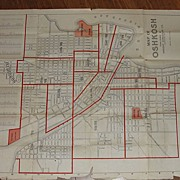 SOLD 1919 Map of Oshkosh Wisconsin - Red Tag Sale Item