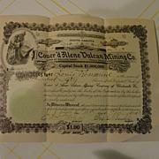 150 Shares Coeur'd Alene Vulcan Mining Co. Cert. #846