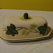 Franciscan ''Ivy II'' (England) Covered 1/4 Pound Butter Dish