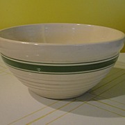 Oven Proof Green Band Mixing Bowl