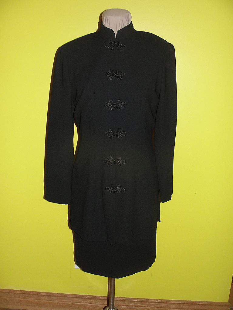 Asian Inspired Black Tunic Dress size 8
