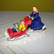 Dept 56 Snow Village Skate faster Mom #56-51705
