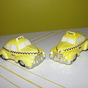 Dept 56 Snow Village Yellow Taxi