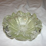 Flowery Glass Candy Dish - b42