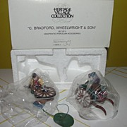 Dept 56 Heritage Village Collection C. Bradford, Wheelwright & Son #5818-1