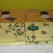 SOLD Wamsutta and Fieldcrest Solid Gold and Yellow Flower Twin Top Sheets - b39 - Red Tag Sale