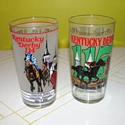 Kentucky Derby '88 & 89' Glasses - b39