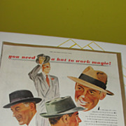 ''You need a Hat to work Magic'' Ad