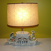 SALE 1950's Pagoda TV Lamp