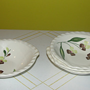 Blue Ridge Southern Potteries Co ''Spray'' Tabbed Bowls