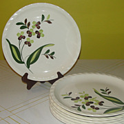 "Blue Ridge Southern Potteries Co ""Spray"" Dinner Plates"