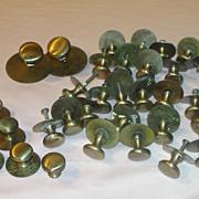 That's a lot of Brass Draw/door Pulls Knobs a Plenty - b53