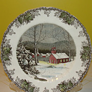Johnson Bros. The friendly Village''The School House'' Large Dinner Plate
