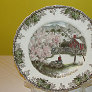 Johnson Bros. The friendly Village''The Well'' Large Dinner Plate