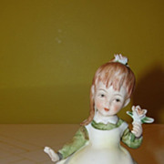 Lefton Girl with Flower #KW28170