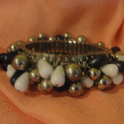 The Old Classic Navy and White Stretch Bracelet - Free shipping