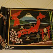 SOLD 38th Parallel Black lacquer Souvenir Photo/Scrap Album - Red Tag Sale Item