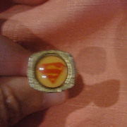 Stronger Than a Locomotive Superman 1976 DC comic Ring