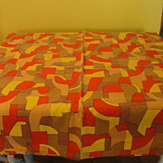 Bold Graphics 70's Tablecloth